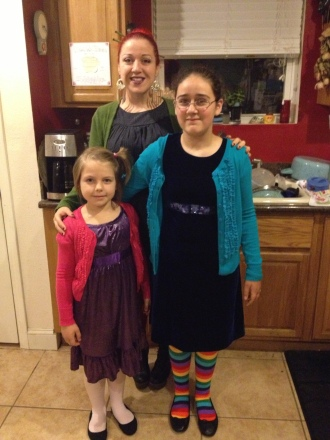 """Got the girls """"all dressed up"""" and whisked them off to the ballet. They are growing so fast and beautifully."""
