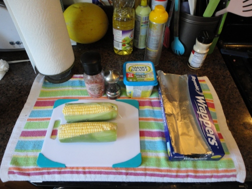 Yep, this is the prep. It is everything you need to make an amazing roasted corn... One day I will tell you all about it! lol
