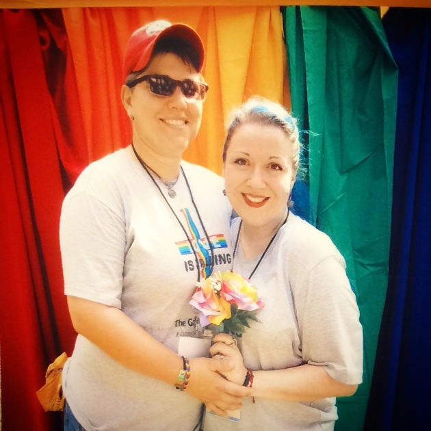 My wife and I after the 2014 Pride Relationship Blessing!