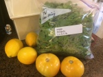 I added these items to my delivery! Half pound of arugula, golden tomatoes and lemons.
