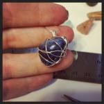 Polly - delicate lapis pendant.