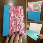 Up-cycling journals: all materials are recycled or re-purposed or scraps from other projects/paper bought for other projects!!!
