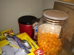 The cheese puffs were eaten after this photo and before I officially started tracking the food costs.