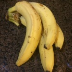 These bananas were so ripe that they were practically peeling themselves. Really, they were falling out of their skins.